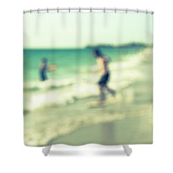 Shower Curtain featuring the photograph a day at the beach III by Hannes Cmarits
