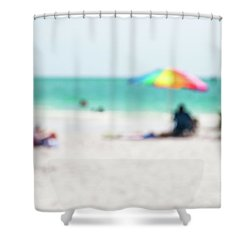 Shower Curtain featuring the photograph a day at the beach IV by Hannes Cmarits