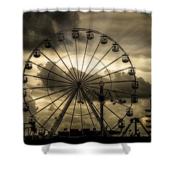 Shower Curtain featuring the photograph A Day At The Fair by Chris Lord