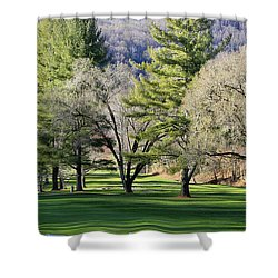 A Day For Golf  Shower Curtain by Dennis Baswell