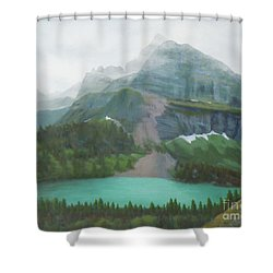 A Day In Glacier National Park Shower Curtain