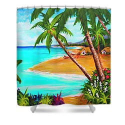 A Day In Paradise Hawaii #359 Shower Curtain by Donald k Hall