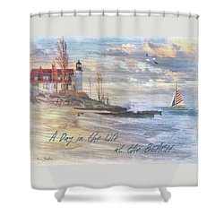 A Day In The Life At The Beach Shower Curtain