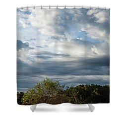 Shower Curtain featuring the photograph A Day In The Prairie by Iris Greenwell