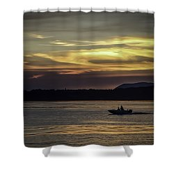 A Day Of Fishing Shower Curtain