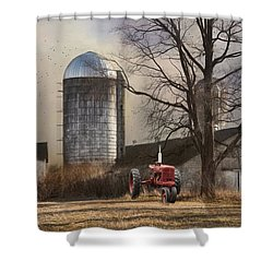 Shower Curtain featuring the photograph A Day Off by Robin-Lee Vieira