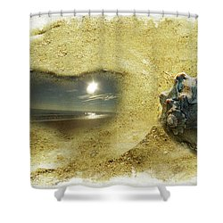 A Day On The Beach Shower Curtain