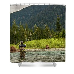 A Day On The River Shower Curtain