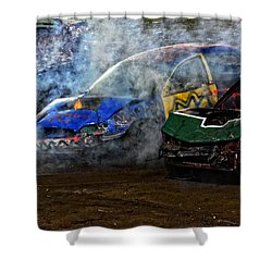 A Demo Fire Shower Curtain