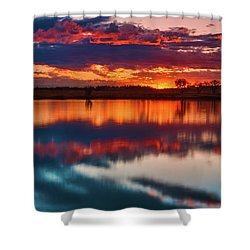 A Denver Dawn Shower Curtain by John De Bord