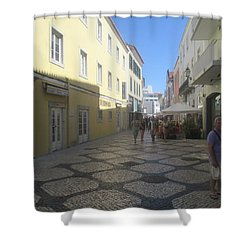 A Detail From A Street In The Historical Centre Of Cascais Near Lisbon Shower Curtain