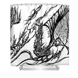 A Different Slant Shower Curtain