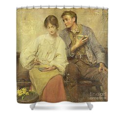 A Dinner Of Herbs  Shower Curtain by George William Joy
