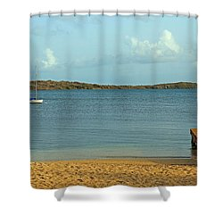 A Dock In Paradise Shower Curtain