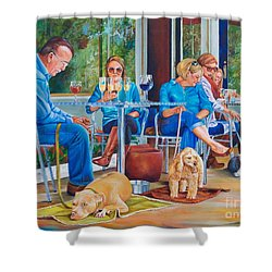 A Dog's Life Shower Curtain by AnnaJo Vahle