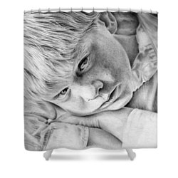 A Doleful Child Shower Curtain