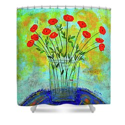 A Dozen Of Red Roses For You Shower Curtain
