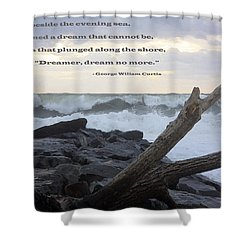 A Dream Near The Ocean Shower Curtain