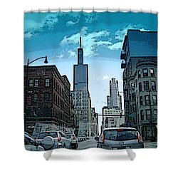 A Drive Through Downtown Chicago Shower Curtain