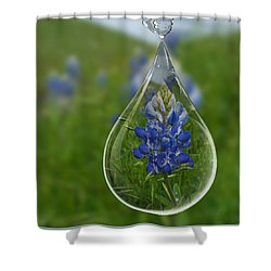A Drop Of Texas Blue Shower Curtain by ARTography by Pamela Smale Williams