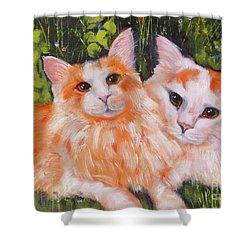 A Duet Of Kittens Shower Curtain