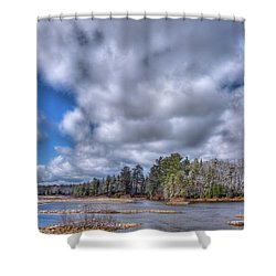 Shower Curtain featuring the photograph A Dusting Of Snow by David Patterson