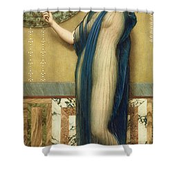 A Fair Reflection Shower Curtain by John William Godward