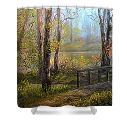A Fall Day  Shower Curtain