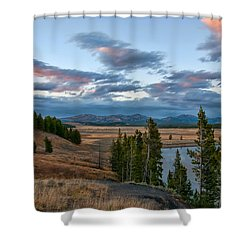 A Fall Evening In Hayden Valley Shower Curtain