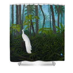 A Fantasy In White Shower Curtain