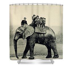 A Farewell Ride On Jumbo From The Illustrated London News Shower Curtain by English School