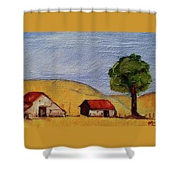 A Farm In California Winecountry Shower Curtain