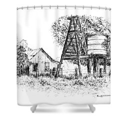 A Farm In Schroeder Shower Curtain