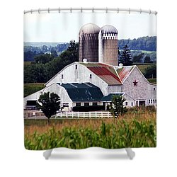 Shower Curtain featuring the photograph A Farmer's Paradise by Polly Peacock