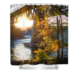 Blanchard Dam - A Favorite Place Shower Curtain