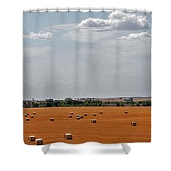 A Field Of Bales Shower Curtain