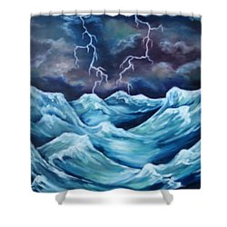 A Fierce Beauty Shower Curtain by Cheryl Pettigrew