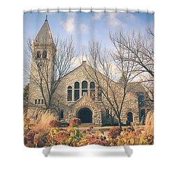 Shower Curtain featuring the photograph A Fine Autumn Day by Viviana  Nadowski