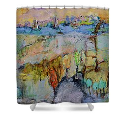 A Fine Day For Sailing Shower Curtain by Sharon Furner