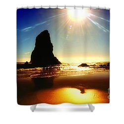 A Fire In The Sky Shower Curtain by Scott Cameron