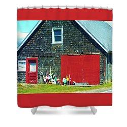 A Fisherman's Barn Shower Curtain