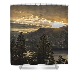 Shower Curtain featuring the photograph A Fleeting Glimpse by Mitch Shindelbower