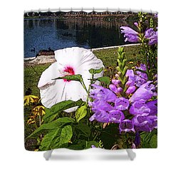 A Flower Blossoms Shower Curtain by B Wayne Mullins