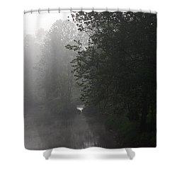 A Foggy Morning In Pennsylvania Shower Curtain