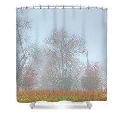 A Foggy Morning Shower Curtain