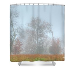 A Foggy Morning Shower Curtain