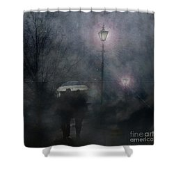 Shower Curtain featuring the photograph A Foggy Night Romance by LemonArt Photography