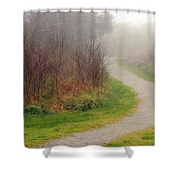 A Foggy Path Shower Curtain