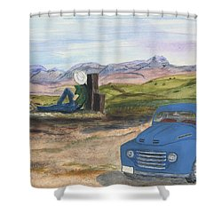 A Ford Shower Curtain