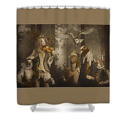 A Forest Overture Shower Curtain by Rosemary Smith